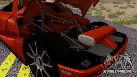 Koenigsegg CCX 2006 Road Version para GTA San Andreas vista traseira