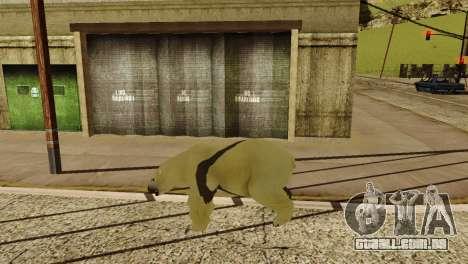 A possibilidade de GTA V para jogar com os anima para GTA San Andreas nono tela