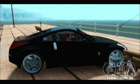 Nissan 350Z Rock para GTA San Andreas traseira esquerda vista