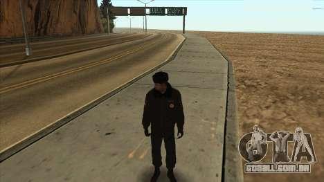 A polícia da Rússia - inverno formulário para GTA San Andreas por diante tela