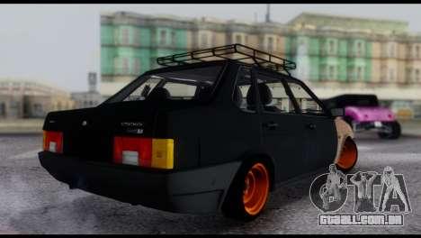 Lada 21099 Rat Look para GTA San Andreas esquerda vista