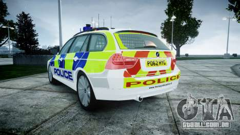 BMW 3 Series Touring E91 [ELS] para GTA 4 traseira esquerda vista