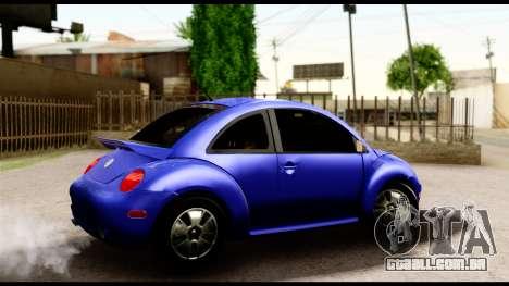 Volkswagen New Beetle para GTA San Andreas traseira esquerda vista
