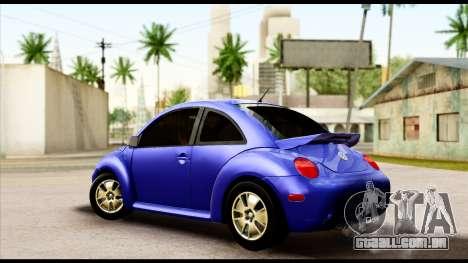 Volkswagen New Beetle para GTA San Andreas esquerda vista