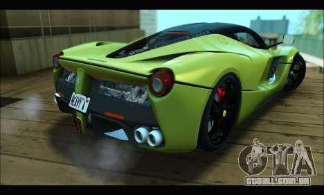 Ferrari LaFerrari 2014 para GTA San Andreas vista interior