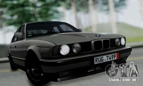 BMW 525 E34 Rims para GTA San Andreas traseira esquerda vista