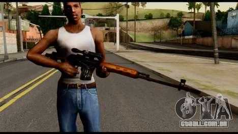 SVD from Metal Gear Solid para GTA San Andreas terceira tela