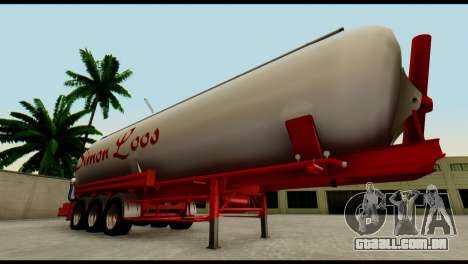 Mercedes-Benz Actros Trailer Simon Loos para GTA San Andreas vista interior
