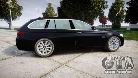 BMW 525d F11 2014 Facelift Civilian para GTA 4 esquerda vista