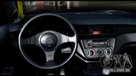 Mitsubishi Lancer Evo 9 para GTA San Andreas vista direita