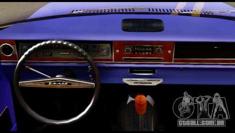 GAZ 24 Volga Lowrider La Pilotos para GTA San Andreas traseira esquerda vista
