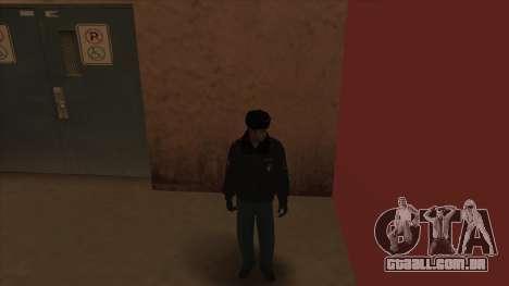 A polícia da Rússia - inverno formulário para GTA San Andreas oitavo tela