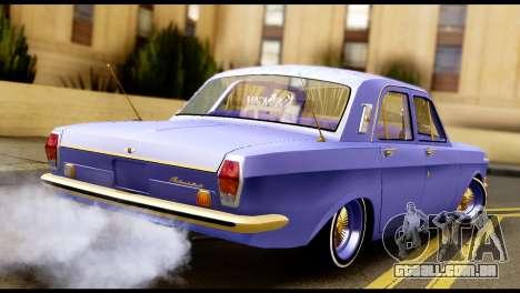 GAZ 24 Volga Lowrider La Pilotos para GTA San Andreas esquerda vista