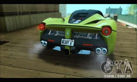 Ferrari LaFerrari 2014 para GTA San Andreas vista traseira