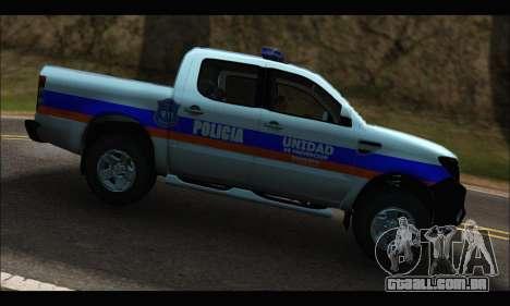 Ford Ranger P.B.A 2015 Text2 para GTA San Andreas esquerda vista