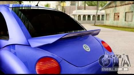 Volkswagen New Beetle para GTA San Andreas vista traseira