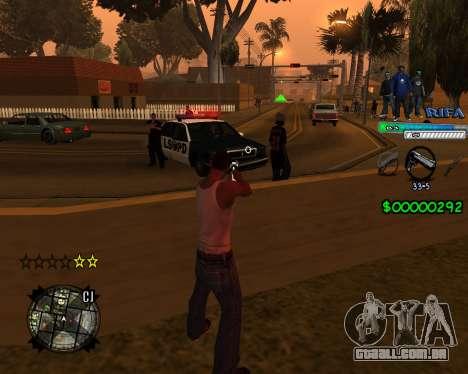 C-HUD Rifa para GTA San Andreas segunda tela