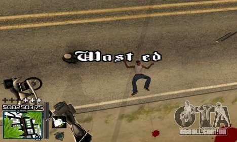 С-HUD RastaMan para GTA San Andreas