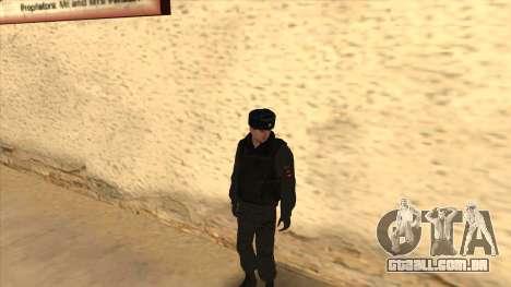 A polícia da Rússia - inverno formulário para GTA San Andreas nono tela