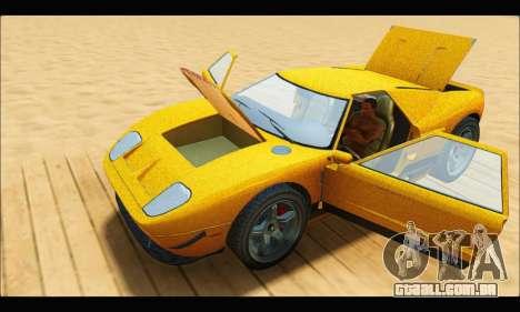 Vapid Bullet Gt (GTA V TBoGT) para GTA San Andreas vista interior
