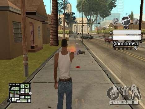 C-HUD Gray para GTA San Andreas terceira tela
