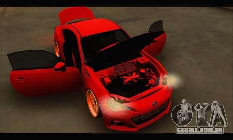Subaru BRZ para GTA San Andreas vista interior