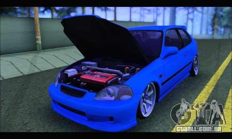 Honda Civic HB (BLG) para GTA San Andreas vista traseira