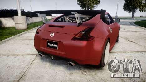 Nissan 370Z Stance para GTA 4 traseira esquerda vista