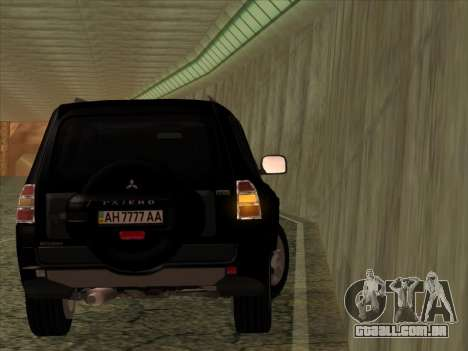 Mitsubishi Pajero para GTA San Andreas vista traseira