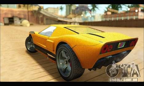 Vapid Bullet Gt (GTA V TBoGT) para GTA San Andreas vista traseira