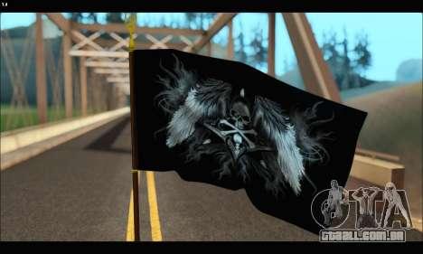 Flag Black Skul para GTA San Andreas segunda tela