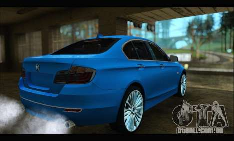 BMW 5 series F10 2014 para GTA San Andreas esquerda vista