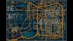 Mapa com setores no estilo de corrida