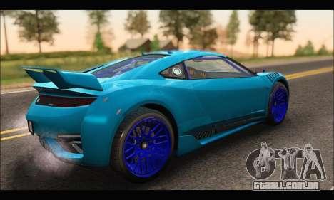 Dinka Jester Racecar (GTA V) (SA Mobile) para GTA San Andreas traseira esquerda vista