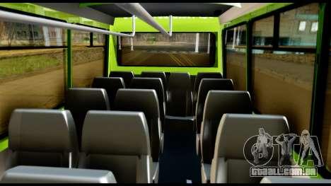 Iveco Minibus para GTA San Andreas vista interior
