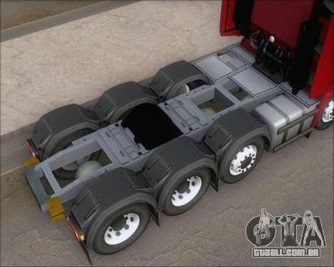 Iveco Stralis HiWay 8x4 para GTA San Andreas vista superior