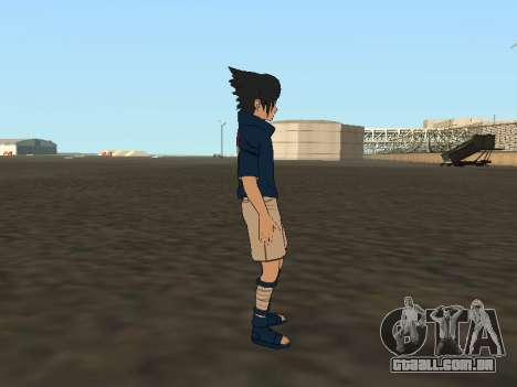 Sasuke Uchiha para GTA San Andreas por diante tela