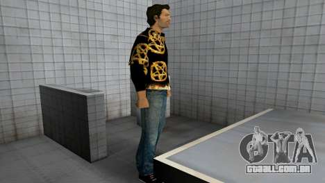 Pentagram Shirt para GTA Vice City por diante tela