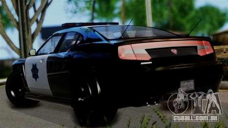 GTA 5 Buffalo S Taxi para GTA San Andreas esquerda vista