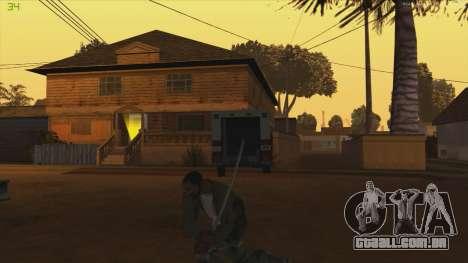 Katana from Killingfloor para GTA San Andreas terceira tela