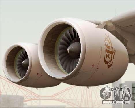 Airbus A380-800 Emirates (A6-EDJ) para GTA San Andreas vista superior