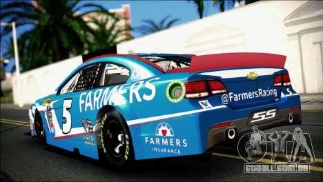 Chevrolet SS NASCAR Sprint Cup Series 2013-2014 para GTA San Andreas esquerda vista