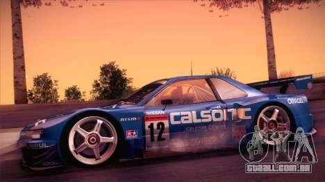 Nissan Skyline GTR-34 2003 para GTA San Andreas traseira esquerda vista