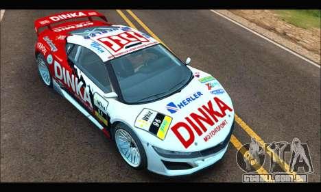 Dinka Jester Racecar (GTA V) (SA Mobile) para GTA San Andreas vista direita