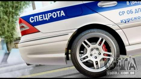 A Mercedes-Benz C32 AMG ДПС para GTA San Andreas vista direita