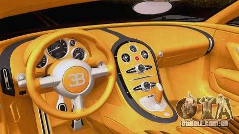 Bugatti Veyron Grand Sport Sang Bleu 2008 para GTA San Andreas vista traseira