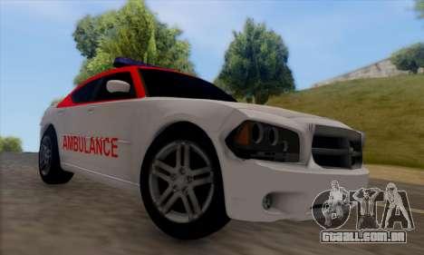 Dodgle Charger Ambulance para GTA San Andreas