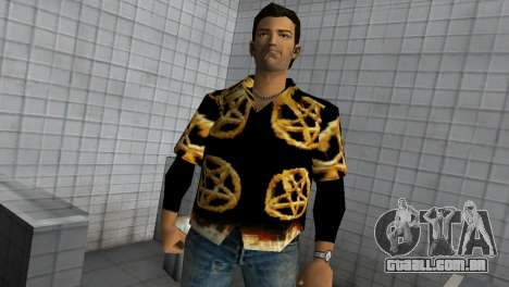 Pentagram Shirt para GTA Vice City segunda tela