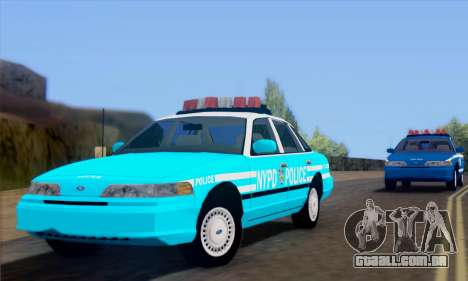 Ford Crown Victoria NYPD Blue para GTA San Andreas traseira esquerda vista