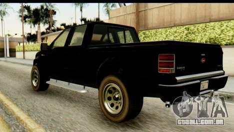 GTA 5 Vapid Sadler para GTA San Andreas esquerda vista